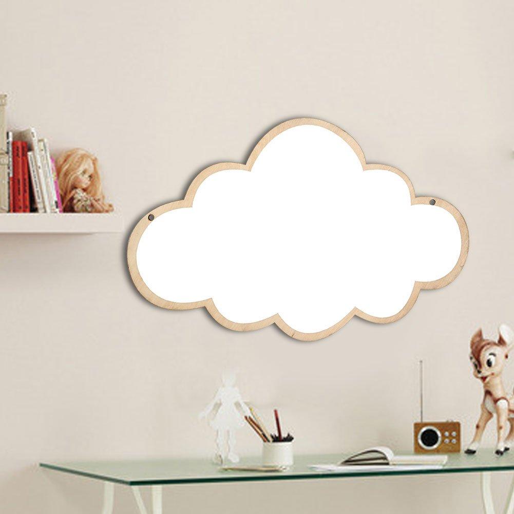 #Cloud GLOGLOW Enfants Chambre Miroir Stickers muraux de Miroir de Miroir Mural Sticker Enfants Enfants Art D/écor /À La Maison M/énage Cadeau danniversaire