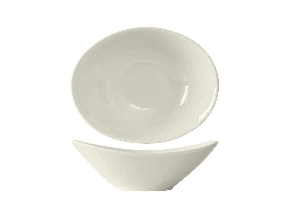 Tuxton AMU-413 Vitrified China AlumaTux Bouillon, Capistrano Bowl, 8 oz, 6-3/8'' x 5'', Pearl White (Pack of 24), Oven-Microwave-Pressure Cooker Safe; Freezer to Oven Safe