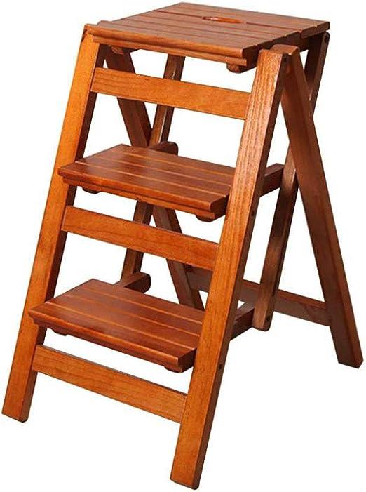 Escalera Plegable De 3 Escalones, Escalera para Uso Doméstico, Silla De Comedor Taburete De Bar Escaleras De Tijera para Niños Y Adultos, Herramienta De Jardín para El Hogar: Amazon.es: Hogar