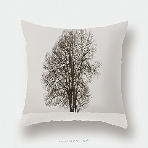 Custom Satin Pillowcase Protector Winter Landscape With Tree And Snow In Navarra Spain Horizontal 268154306 Pillow Case Covers Decorative by chaoran