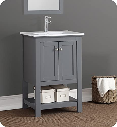 Fresca Manchester 24″ Gray Traditional Bathroom Vanity