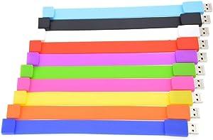 Thumb Drive 4GB Bulk Pack of 10 USB Flash Drives Multipack Zip Drives,Portable 4 GB USB 2.0 Memory Stick Pendrive Gift for Student Child,FEBNISCTE Multicoloured Jump Drive Bracelet Pen Drive U Disk