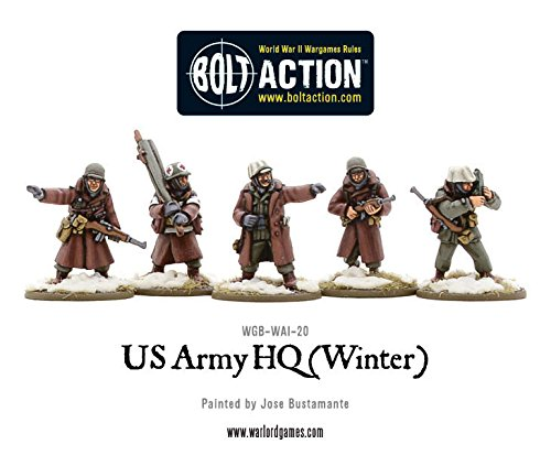 Warlord Games  US Army HQ (Winter)  28mm Bolt Action Wargaming figures
