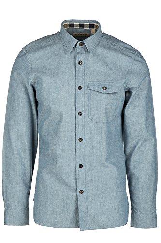 Burberry chemise à manches longues homme friston blu EU S (UK 36) 4034053