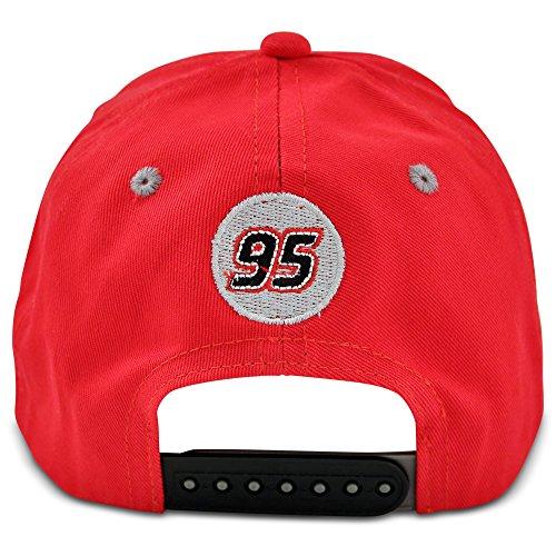 Disney Little Boys' Cars Lightning Mcqueen Cotton Baseball Cap, Red, Grey, One Size