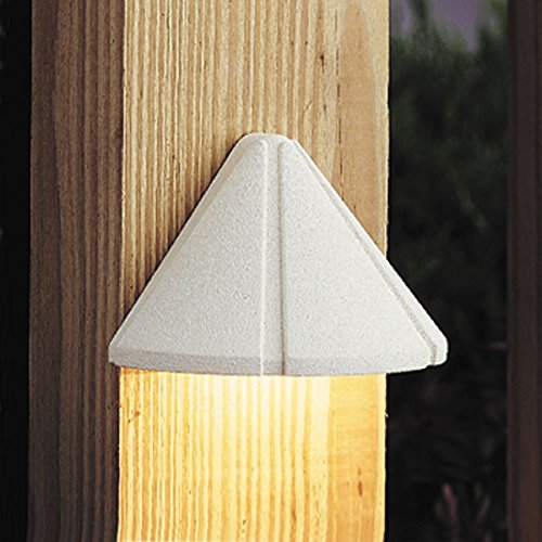 Cheap Kichler 15065WHT Six Groove Deck 1-Light 12V, Textured White