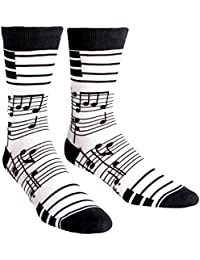 Footnotes, Men's Crew Socks, Music Notes, Piano Socks