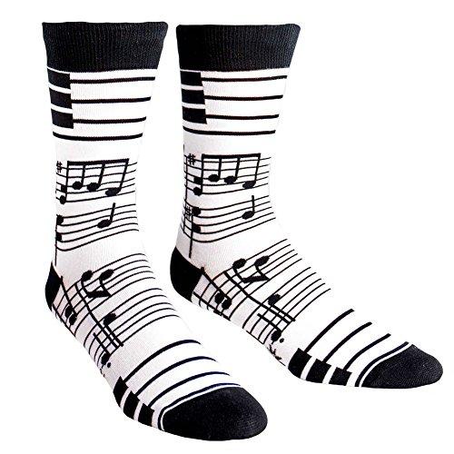 Sock It to Me, Footnotes, Men's Crew Socks, Music Notes, Piano Socks