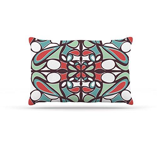 Kess InHouse Miranda Mol Brown Round Tiles  Fleece Dog Bed, 50 by 60 , Multicolor