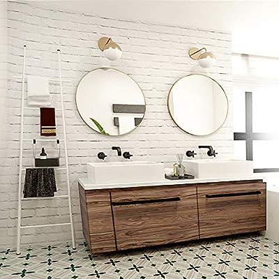 M-TOP - Escalera toallero de baño Blanca, Soporte para Toallas de baño Recto, Escalera Porta Toallas de Acero, toallero de Suelo a 6 peldaños, toallero de baño: Amazon.es: Hogar