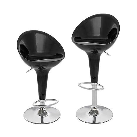 Set of 2 Modern Bombo Style Bar Stools Adjustable Swivel Pub Chair Barstools US