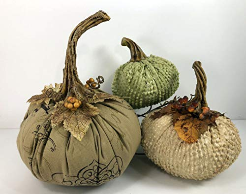 Pumpkin Vine Stems Resin - 2 Small, 2 Medium, 2 Large - Handcrafted Stems for Velvet Fabric Pumpkins DIY Craft Element Handcrafted in USA -