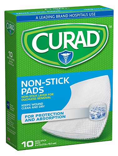 Curad Non-Stick Pads, 3 Inches X 4 Inches 10 Count ()