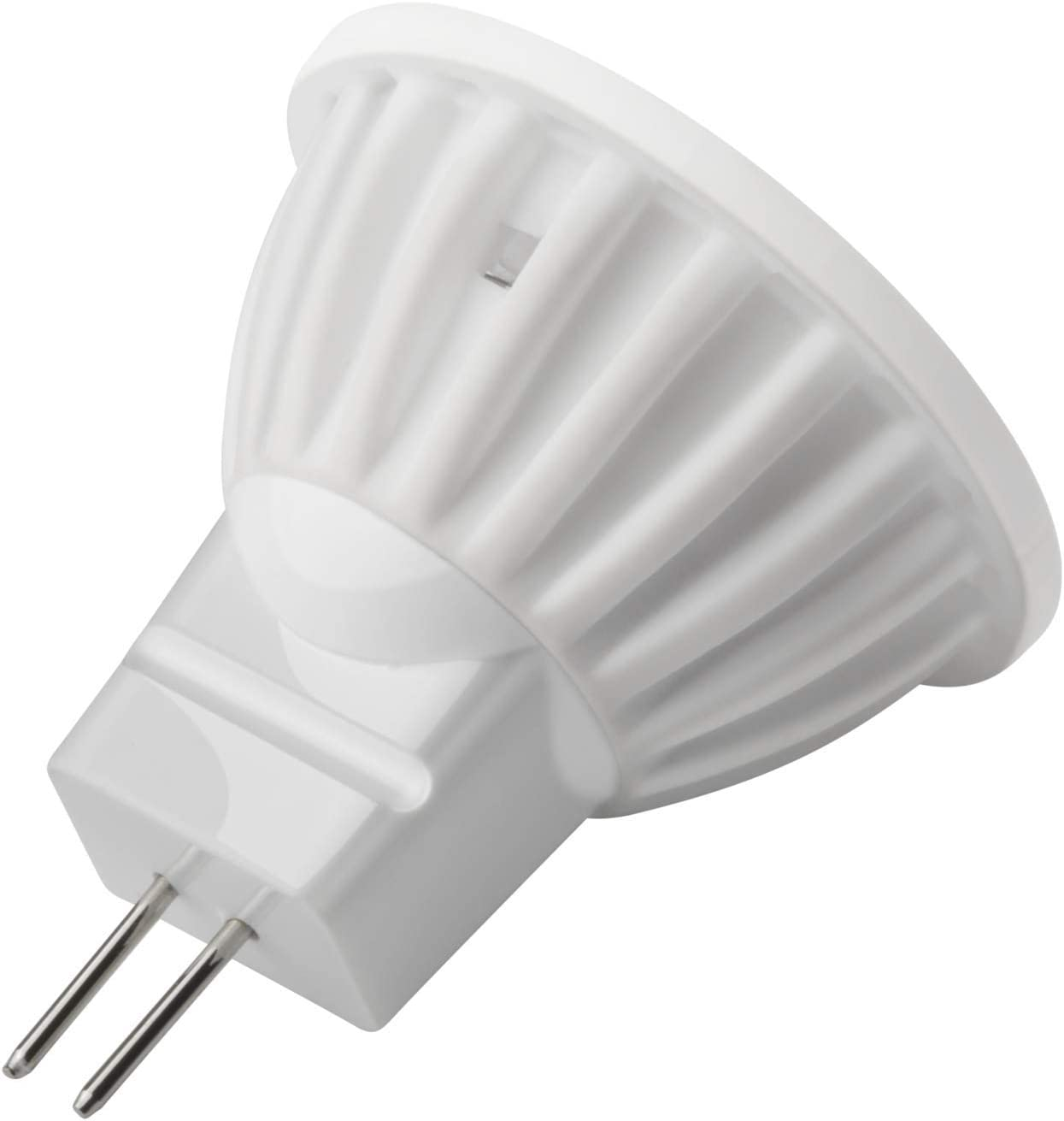 35W Halogen Bulbs Equivalent,White Light 6000K,2 Piece MR11 GU4 LED Bulb 12 Volt,350 Lumen,G4 Bi-Pin Base,45/° Beam Angle