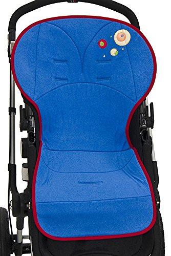 Colchoneta silla paseo universal BORDADA transpirable y suave. Funda multiusos también válida para silla de AUTO y para TRONAS. Rizo Algodón 100%. ...