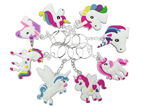 O'Hill 40 Pack Rainbow Unicorn Keychains Key Ring Decoration Birthday Party Favor Supplies by OHill