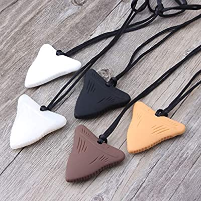 YOUSIKE Shark Tooth Silicone Teething Necklace Baby Gender Neutral Chew Necklace Sensory Teether Pendant BPA Free Beads for Babies, Toddlers, Infants, Boy and Girl : Baby