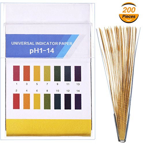 New Hestya pH Test Strips, Test for Urine Saliva Acid Alkaline pH Level or Water Quality, Full Range of 1-14 (200 Pieces) free shipping
