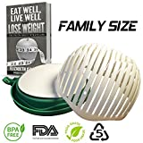 KIES'KITCHEN Salad Chopper Cutter Bowl - Super Family Size Vegetable Slicer - 60 Second Salad Maker with Cutting Board, Drip Guard and Strainer - FDA Approved