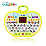 BIYASO Learning Toys for 3 Year Olds Girl, Educational Toys for 1-4 Year Old Boys Baby Kids Tablet Toys for 2 Year Old Girl Apple Computer Toy for 6-18 Months Toddler Toy Gift for 9-24 Months Girls