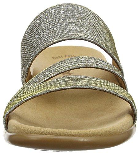 Gabor Shoes 63.703, Chanclas Mujer Plateado (platino 63)
