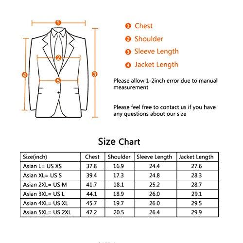 Jearey Mens Blazer Casual Slim Fit Lapel Suit Jacket One Button Daily Business Dress Coat (Navy, XX-Large) by Jearey (Image #7)