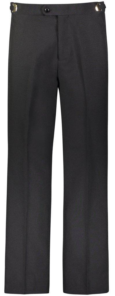 RGM Men's Tuxedo Pants Flat Front with Side Satin Stripe Black 36W x 32L
