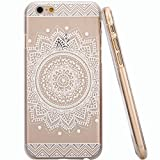 iPhone 6S 4.7 Inch Case ,Nancy's Shop iPhone 6 Premium Thin Fit Ultra Slim Hybrid Series Crystal Clear back panel Heavy Duty Anti-Scratch Shock-Absorbing Bumper Hard Back Panel Cover (Big flower)