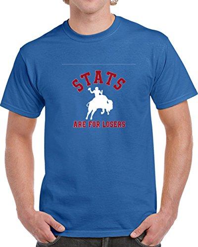 Josh Allen Qb Stats are for Losers Buffalo Football T Shirt XL Royal Blue