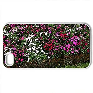 Lovely garden - Case Cover for iPhone 4 and 4s (Flowers Series, Watercolor style, White)