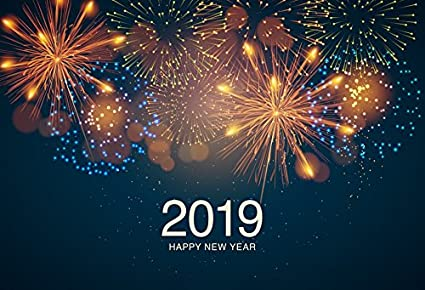 Amazon.com : 2019 Happy New Year Photography Backdrop - Photo ...