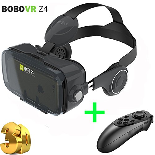 Xiaozhai Z4 Virtual Reality Headset, VR 3D Glasses, BOBOVR VR Goggles with Headphone for the Myopia, Caidishi (Black Z4)