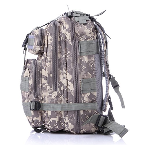 3P Outdoor Tactical Backpack 20-35L Military bag Army Trekking Sport Travel Rucksack Camping Hiking Trekking Camouflage Bag (Lavender mosaic) by Unknown (Image #2)