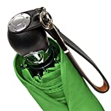 DAVEK TRAVELER UMBRELLA (Kiwi Green) - Quality Windproof Travel Umbrella with Automatic Open & Close, Strong & Portable