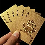 Baynne Waterproof Luxury 24K Gold Foil Poker Playing Cards with Box,Good Gift Idea