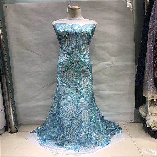 Lace - Arrival African French Net Lace Fabric Sequin Woman Nice Dress Sewing Cloth Jl79b 1 - Meshwork Plait Profit Sack Twine Entwine Take-Home Reticulation Enlace Lucre Braid Earning - ()