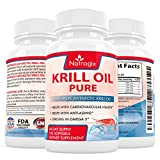 Natrogix 1000mg Antarctic Krill Oil with 540mg Omega3, Real Highest Potency of Omega-3 Fatty Acids EPA & DHA on the Market (120 Softgels)