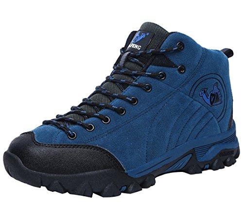 SK Studio Women's Genuine Leather Hiking Boots Royal Blue(Men) gfvcpCCyZ