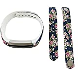 Fusicase Flower Leopard Skull Camouflage Print Silicone strap Wrist Replacement Band Smart Watch Fitness Strap Accessory For Fitbit Alta Only