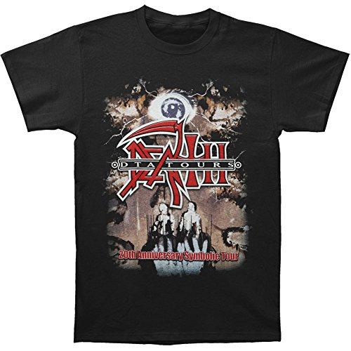 Price comparison product image Death Men's D.T.A. 20th Anniversary Symbolic Tour T-shirt 3X-Large Black