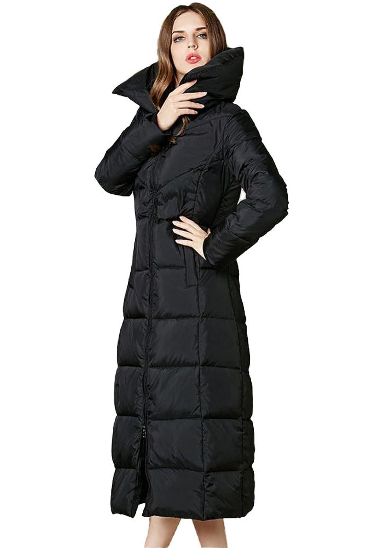 queenshiny Damen Lange Daunenjacke Gänsedaunen Mantel Jacke unterhalb der Knie Mode Winter