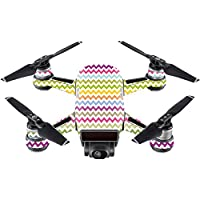 Skin For DJI Spark Mini Drone – Rainbow Chevron | MightySkins Protective, Durable, and Unique Vinyl Decal wrap cover | Easy To Apply, Remove, and Change Styles | Made in the USA