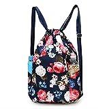 Hscackee Waterproof Backpack Bag – Men Women Sports Gym Sack Sackpack Yoga Dance Travel Daypack Oxford knapsack (Navy blue) Review