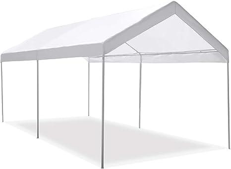 Tangkula Carport Toldo portátil para coche, 10 x 20 pulgadas, resistente, multiusos, resistente al agua, toldo para fiestas al aire libre, cobertor de garaje, refugio instantáneo: Amazon.es: Deportes y aire libre
