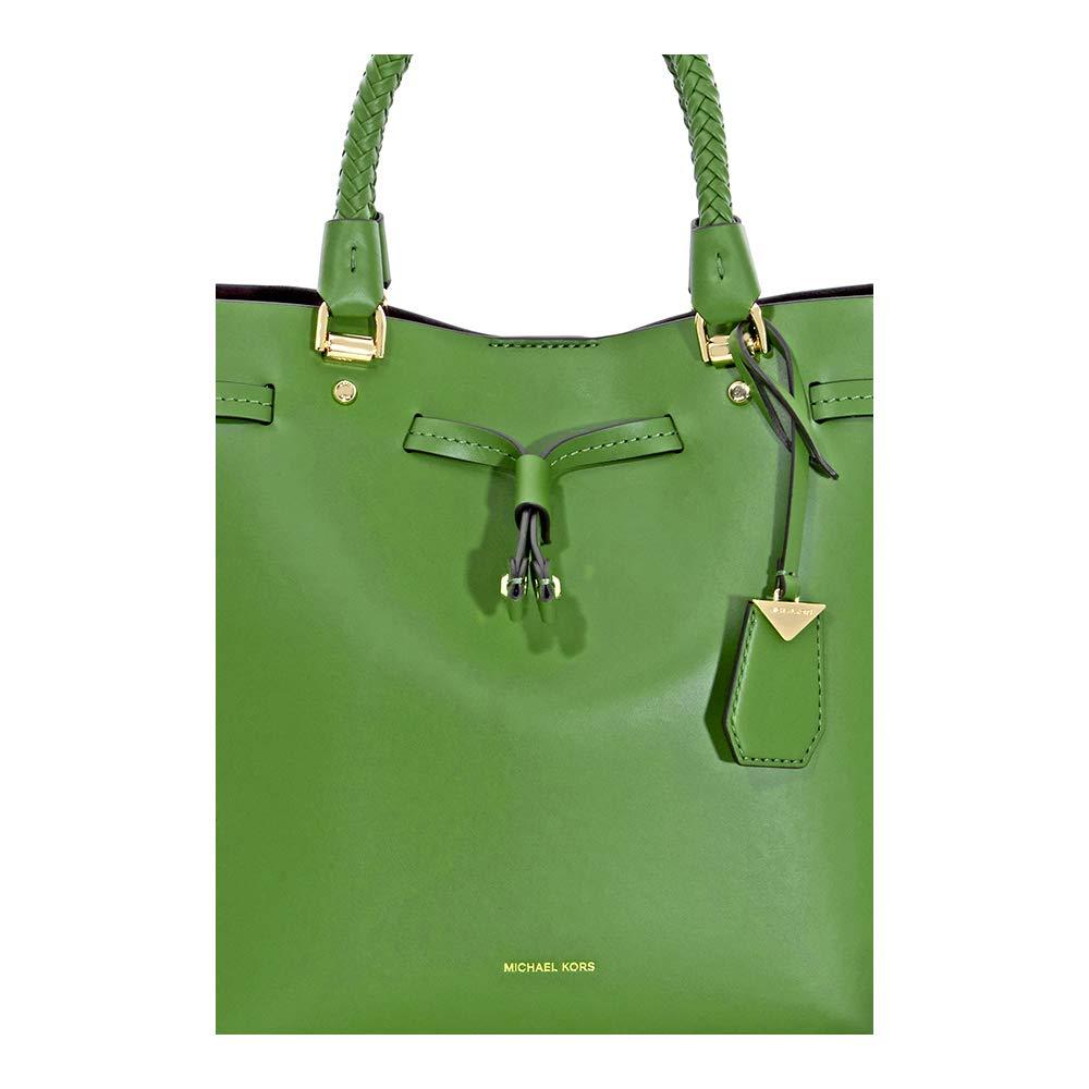 32502c9cba63d3 Michael Kors Blakely Medium Bucket Bag- True Green: Amazon.co.uk: Shoes &  Bags