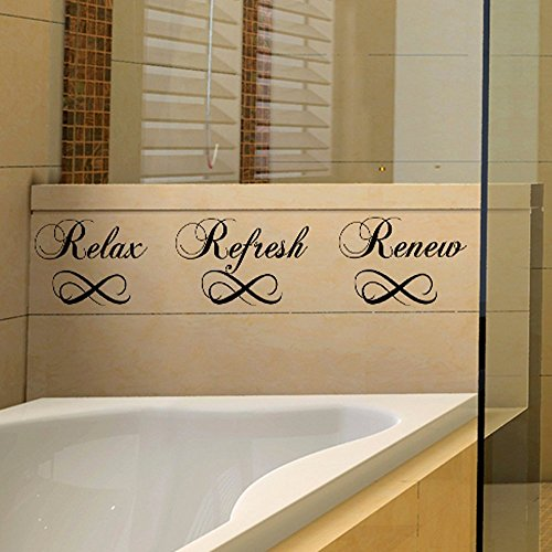 Relax Refresh Renew Bathroom Decal