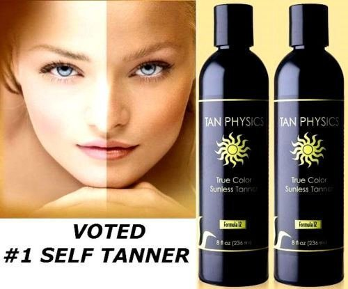 Lot of 2 Tan Physics True Color Rated #1 Sunless Self Tanner Tanning Lotion (Formula Basic Skin Care System)