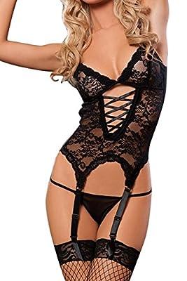 Dxnona® Women's Sexy Lace Lingerie Dress