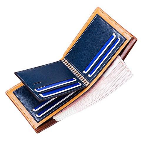 Zantec Männer Business PU Leder Kreditkarten Halter Volltonfarbe Bifold Short Wallet Cash Organizer Geldbörse Dunkelkaffee 4zn1zQyx
