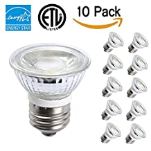 TSCDY Waterproof PAR16 LED Dimmable 5W 450LM 3000K 10 PACK